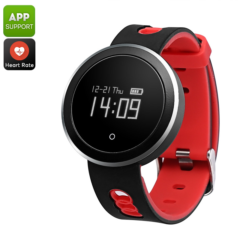 Wholesale Bluetooth Sports Tracking Watch with Blood Pressure / Oxygen Monitor, Sleep Monitoring, Pedometer - Red