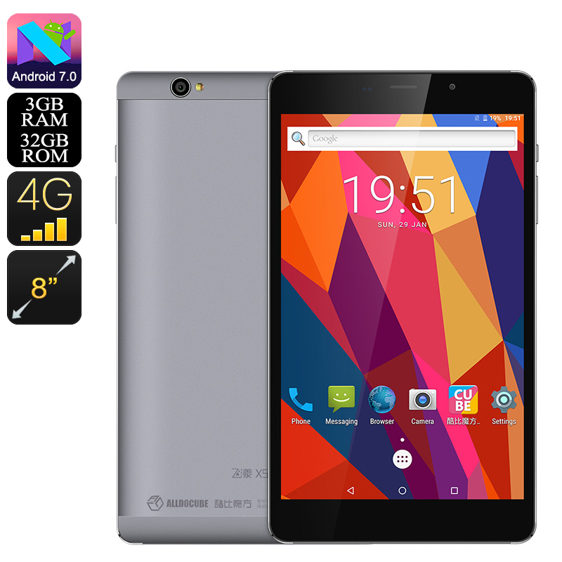 Wholesale Cube X5 T8 Pro Tablet PC (Android 7.0, Octa Core CPU, 3GB RAM, Mali T760 GPU, 4G Dual SIM, 32GB Memory, Micro SD Slot, OTG)