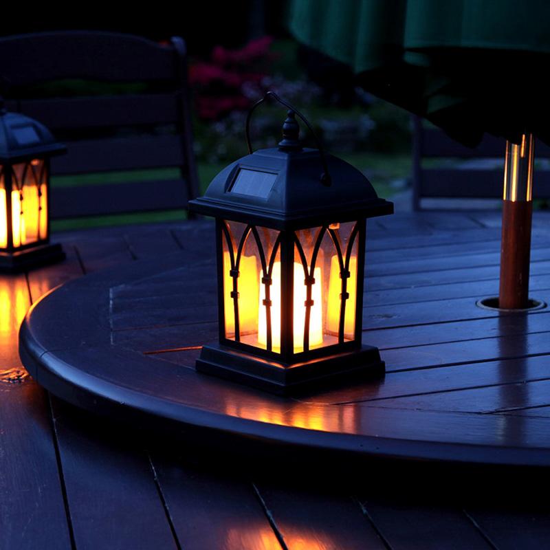 Intelligent Candle Effect Decorative Solar LED Lamp (IP44 Waterproof, 600mAh, Warm Yellow)