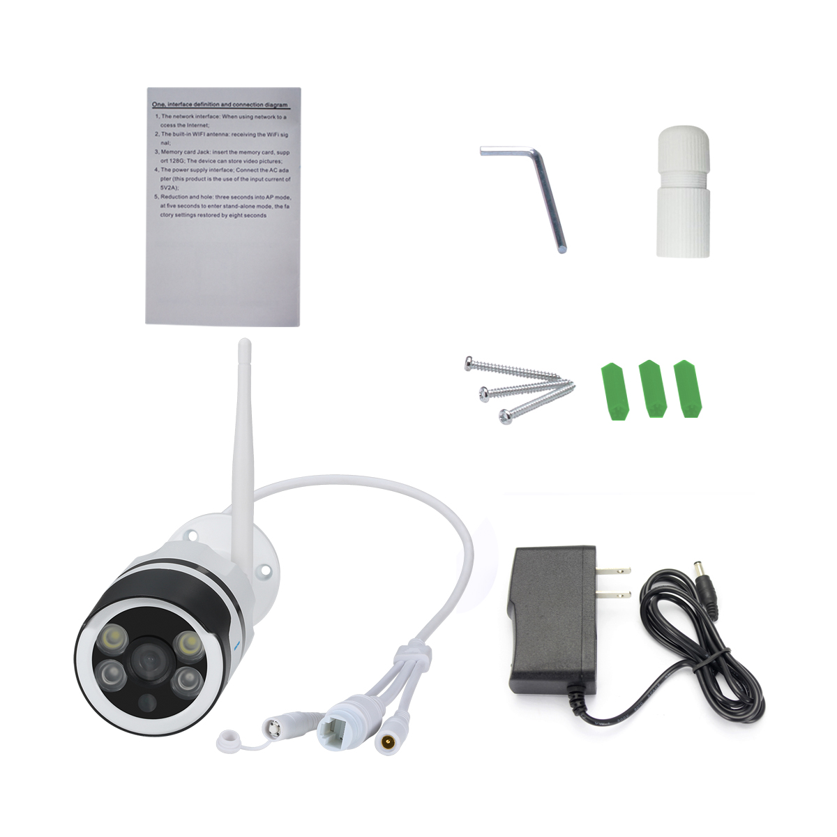 ESCAM QF508 Two Way Audio Outdoor Security IP Camera (1080P Full-HD