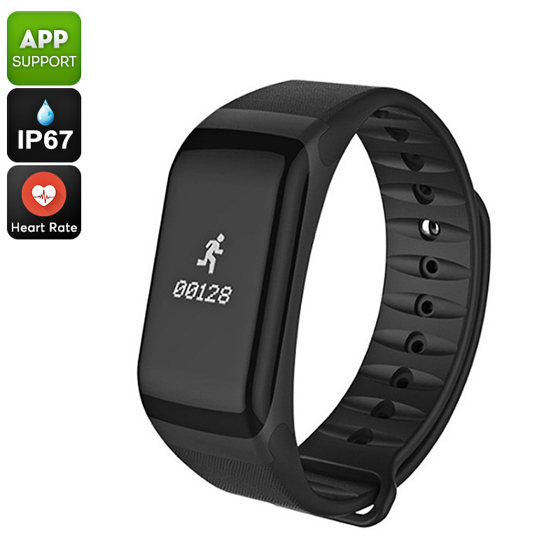 Wholesale IP67 Waterproof Fitness Tracker Bracelet with Heart Rate Monitor