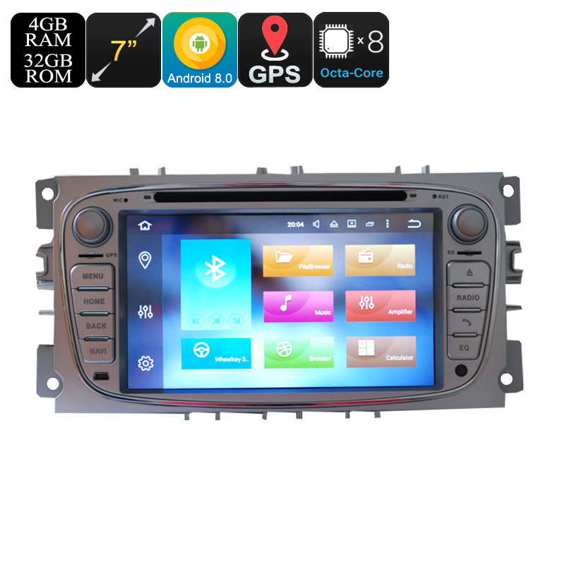 Wholesale 7 Inch 2 DIN Android 8.0 Car DVD Player for Ford (3G, 4G, Octa-Core, CAN Bus, Bluetooth, GPS, Wi-Fi, 4 + 32GB)