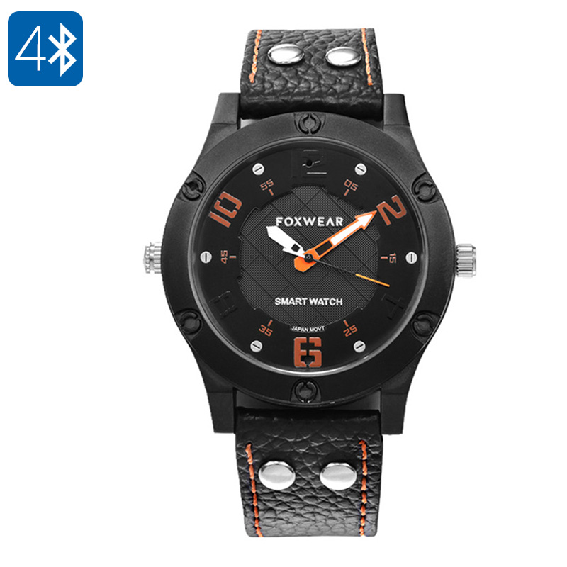 Wholesale Foxwear F28 Waterproof Bluetooth Fitness Watch (Sleek All-black Design, iPhone/ Android Sync)