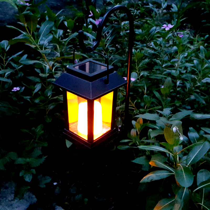 Wholesale 600mAh Candle Effect Solar Lantern with Intelligent Light Control for Home, Garden, Patio, Balcony