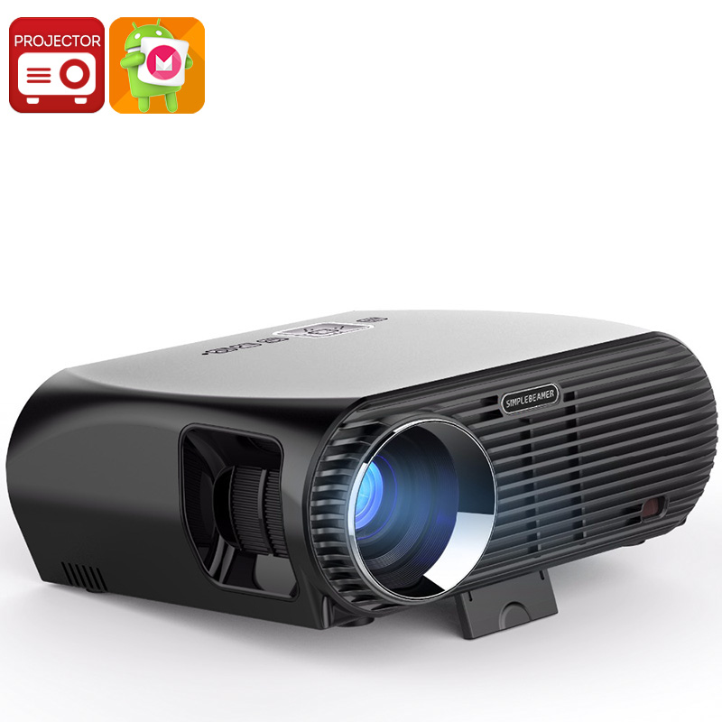 Wholesale Vivibright GP100UP HD WiFi Android Projector (Bluetooth, 5.8 Inch LCD, Quad-Core, 360 Lumen, 8GB)