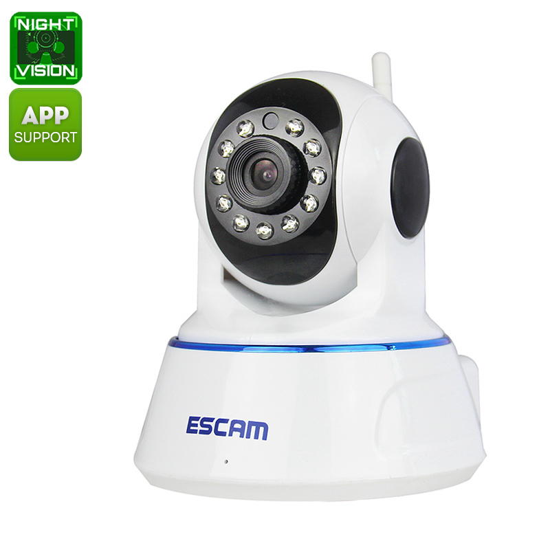 Wholesale WiFi PTZ HD Indoor Dome Camera (720p, Night Vision. iPhone/Android Phone Monitor)