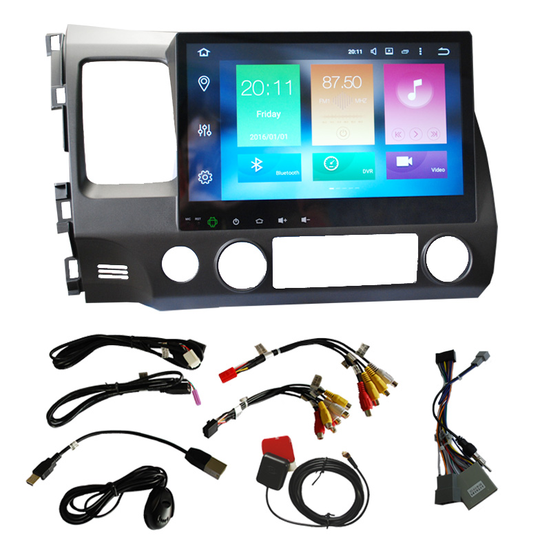 10.2 Inch 2 DIN Android 8.0 Car Media Player for Honda (GPS, WiFi, 3G, CAN BUS, Octa-Core CPU, Bluetooth, 4 + 32GB)