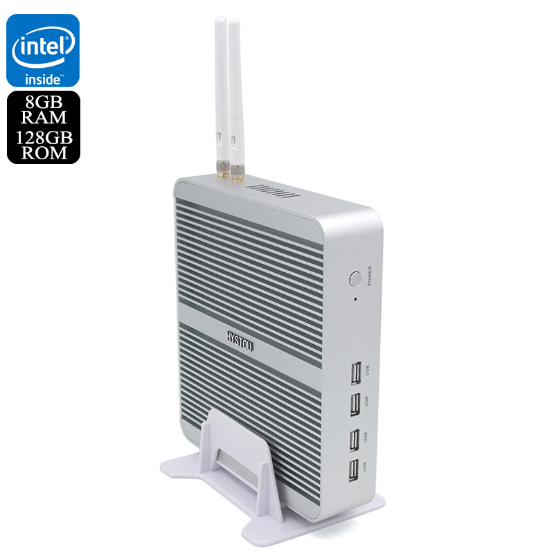 Wholesale Hystou FMP03b Barebones Windows 10 Mini PC (WiFi, i3-7100U CPU, 8GB RAM, 128GB)