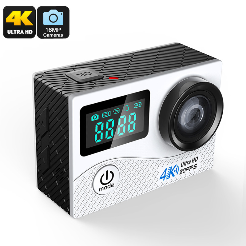 Wholesale K2 Ultra HD WiFi Mini Sports Action Camera (4K, IP68 Waterproof, 2 Inch, 16MP CMOS, 170-Degree Lens, Silver)