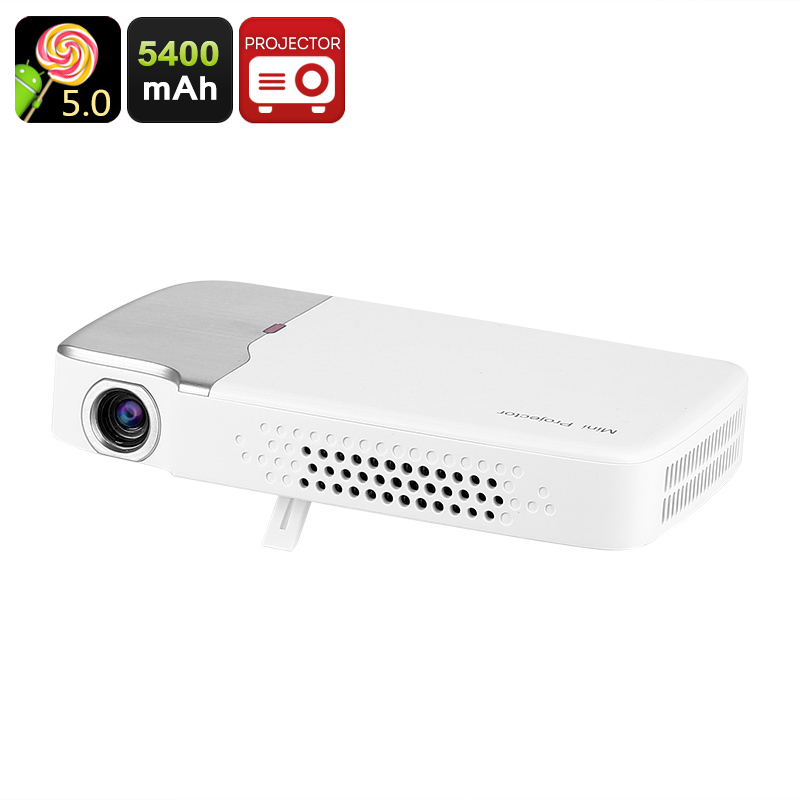 Wholesale G605 Mini DLP Android Projector (150 ANSI Lumen, 1000: 1, 5400mAh, Wi-Fi, Bluetooth, HDMI)