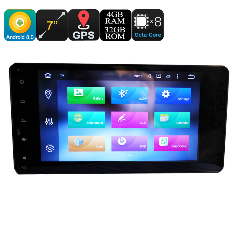 """7/"""" Android 8.0 4GB Car Radio Stereo Octa Core 4G WIFI Double 2DIN Player GPS E"""