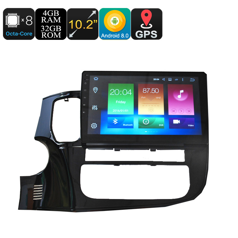 Wholesale 10.2 Inch One DIN Android 8.0 Car Media Player for Mitsubishi (Octa Core, CAN Bus, GPS, Bluetooth, 4 + 32GB)
