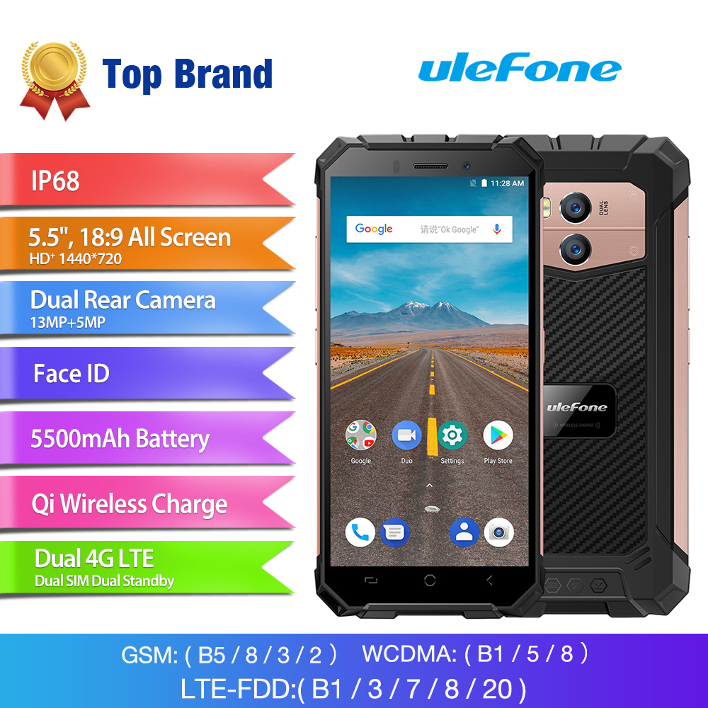 Wholesale Ulefone Armor 2x 5.5 Inch Rugged Smartphone (4G, MT6739 Quad Core CPU, IP68 Waterproof, 5500mAh, 16GB, Gold)