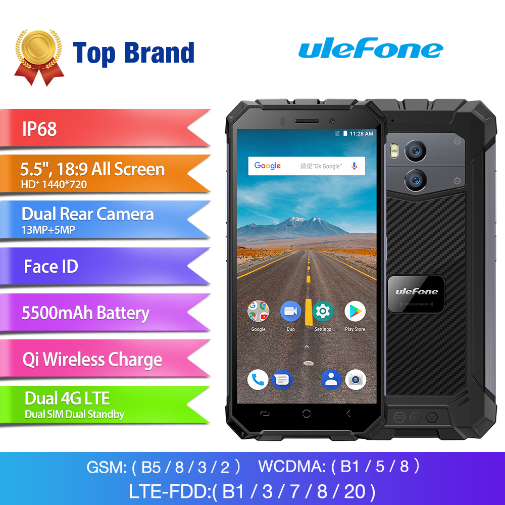 Wholesale Ulefone Armor 2x 5.5 Inch Rugged Smartphone (4G, MT6739 Quad Core CPU, IP68 Waterproof, 5500mAh, 16GB, Grey)