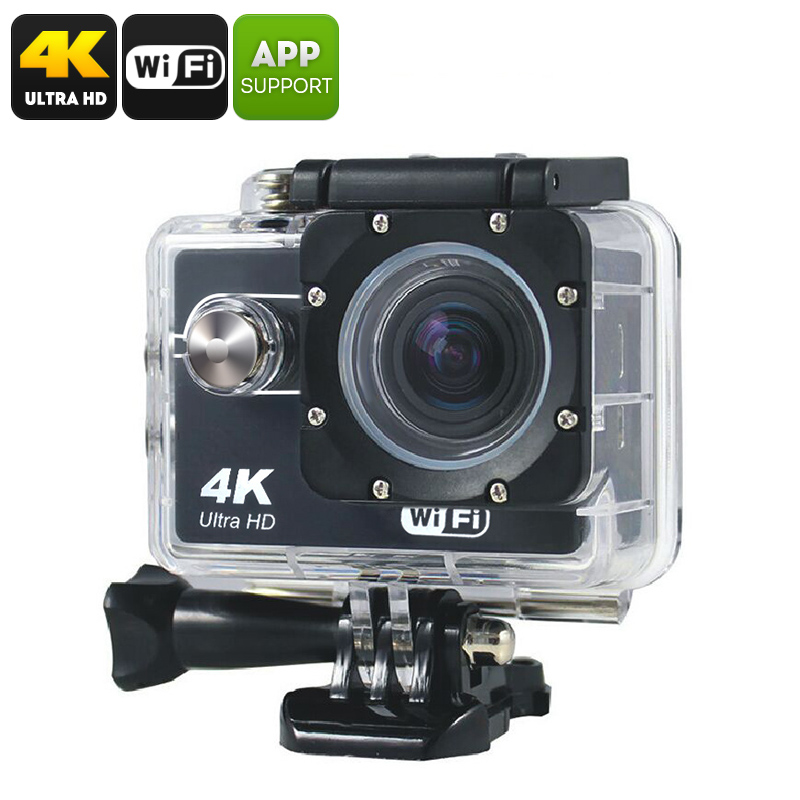 Wholesale Q305 Wi-Fi 4K Sports Action Camera W/ Waterproof Case (CMOS 8MP, Smartphone Control, Micro SD Card Slot)