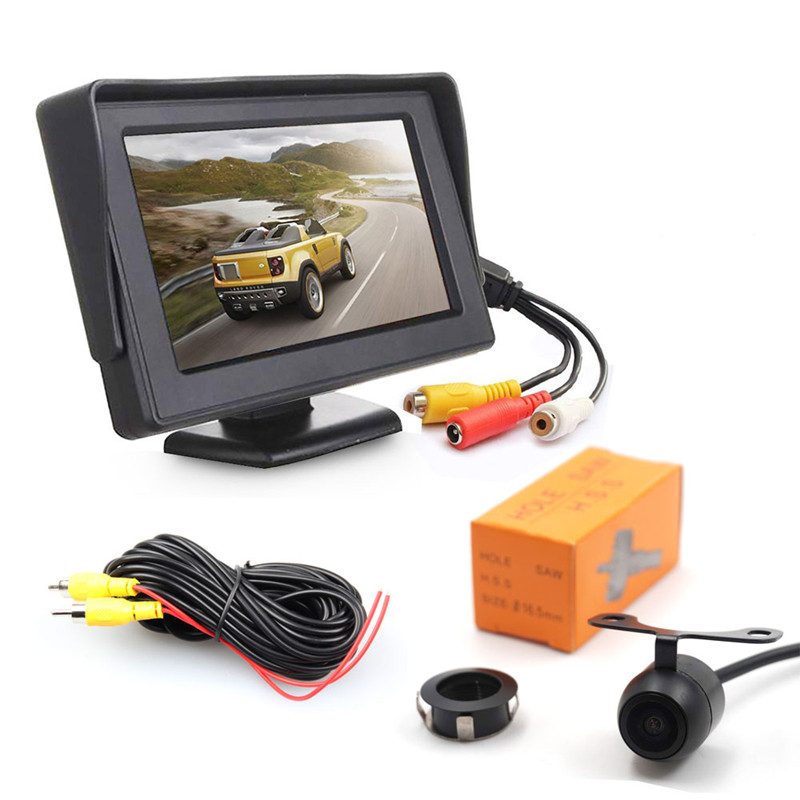 Wholesale IP68 Waterproof Car Rearview Parking Camera with 4.3 Inch Screen