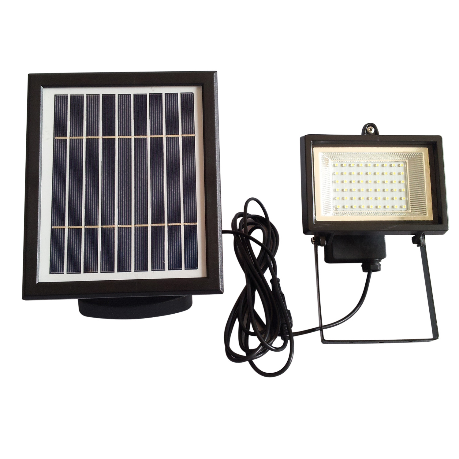 Wholesale Solar Powered LED Flood Light for Courtyard / Lawn (IP65 Weatherproof, 500 Lumens, 54 LEDs)
