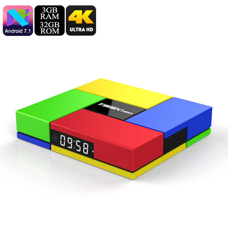 Wholesale T95K Pro Octa Core 4K TV Box (Android 7.1, Dual Band Wi-Fi, Kodi, SPDIF, 3GB RAM + 32GB)