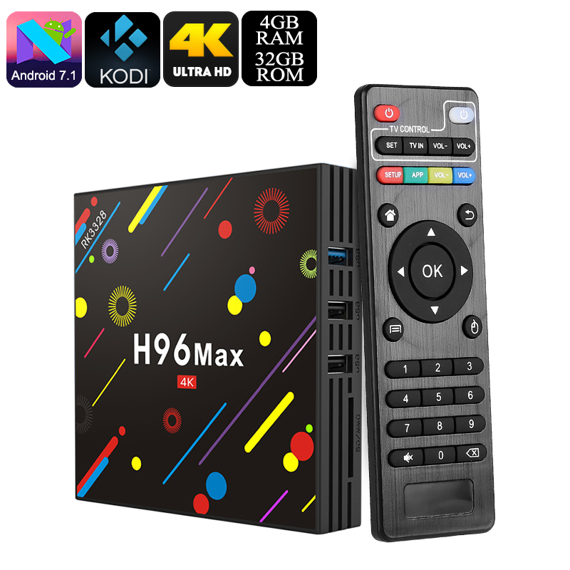 Wholesale H96 MAX Dual Band Wi-Fi 4K TV Box (4GB RAM, Quad-Core 64Bit CPU, KODI 18.0, Bluetooth 4.0, 32GB)