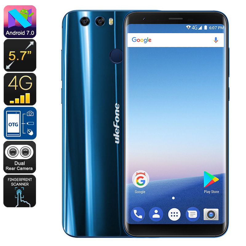 Wholesale Ulefone Mix 2 5.7 Inch Full HD 4G Phone (Dual SIM, Dual Camera, 16GB, Blue)