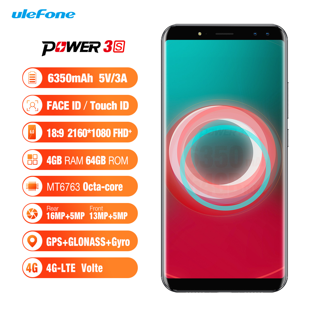 Wholesale Ulefone Power 3S 6 Inch FHD Android 7.1 Phone (Octa-Core CPU, 4G