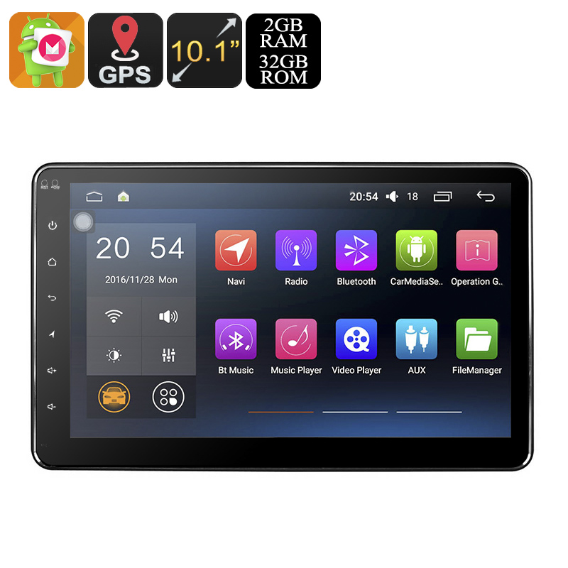 Universal 10.1 Inch GPS 2 DIN Android Car Stereo