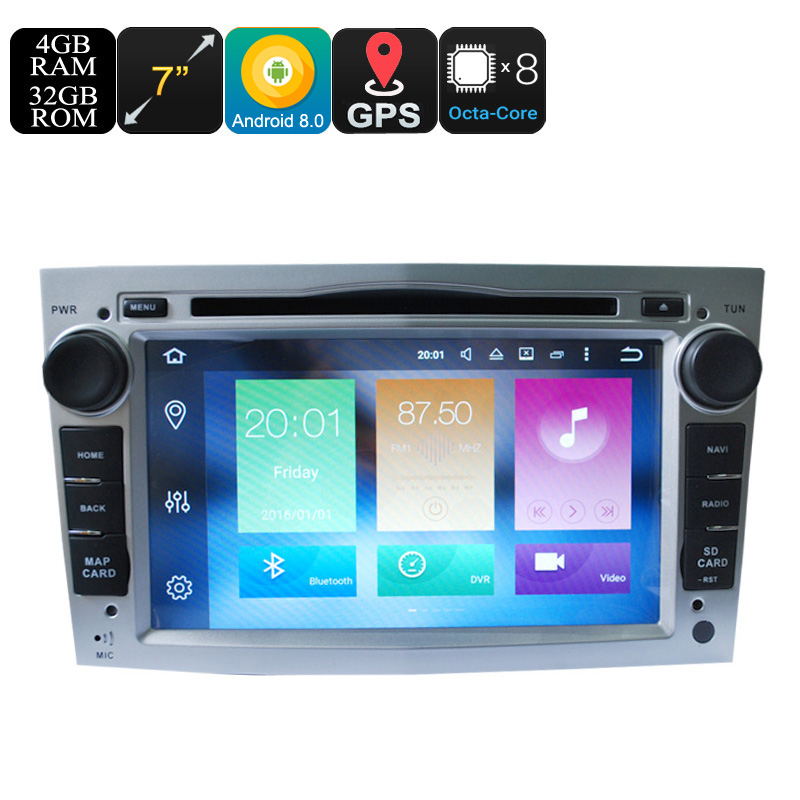 Wholesale Universal 7 Inch Android 8.0 Car Media Player for Opel (Octa Core, 4+32GB, Can Bus, GPS, 3G/4G, Wifi, Bluetooth)