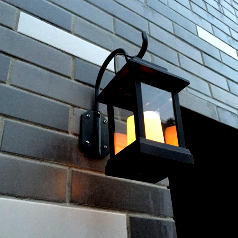 Wholesale Intelligent Candle Effect Solar Decorative Wall Lights (IP44 Waterproof, Warm Yellow LED)