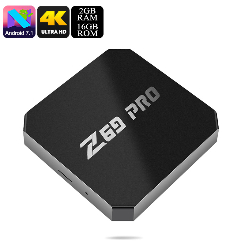 Wholesale Z69 Max Pro Wi-Fi Android 7.1 TV Box (Quad Core CPU, 4K, H.265, 16GB)