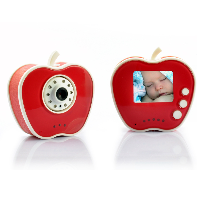 Wholesale Apple Shaped 2.4GHz Wireless Digital Baby Monitor + Camera (10 LEDs, Night Vision)