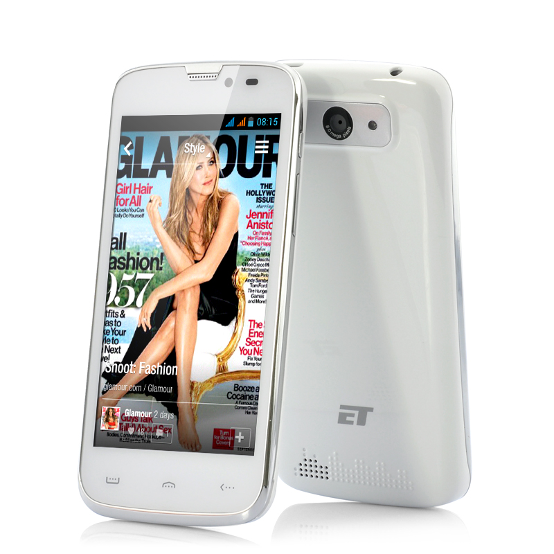 Wholesale ET T45 - 4.5 Inch QHD Android 4.2 Phone (Quad Core 1.2GHz, 960x540, 1GB RAM, 4GB, White)