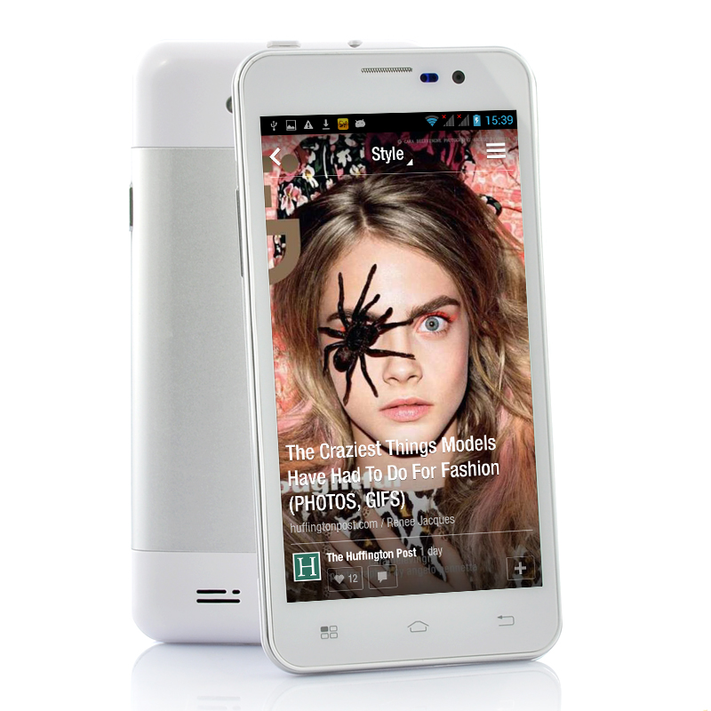 Wholesale Anansi - 5 Inch Quad Core Phone (Android 4.2, 1280x720p, 8MP Camera, White)