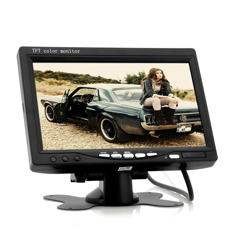 Wholesale 7 Inch Car Headrest Monitor (800x480, Black, Easy To Install)