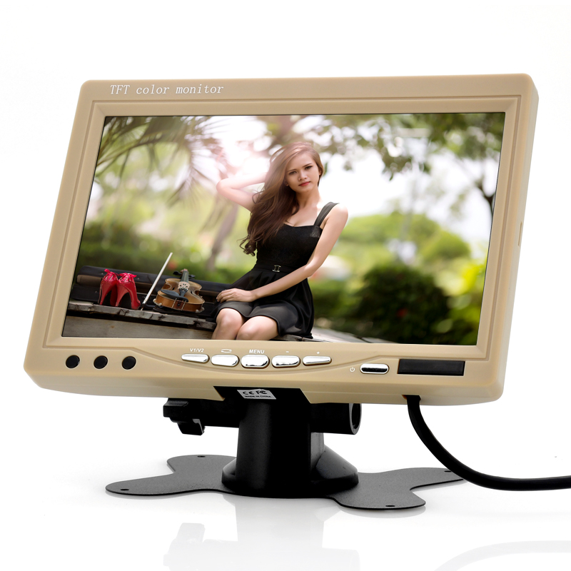 Wholesale 7 Inch Car Headrest Monitor (800x480, Tan, Easy To Install)
