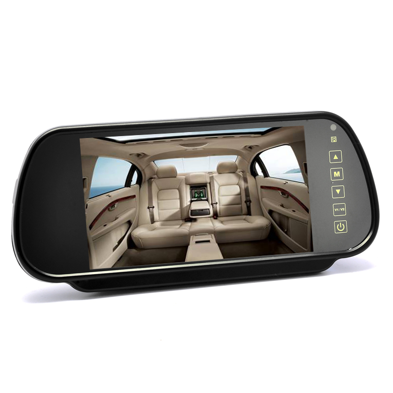 Wholesale 7 Inch Rearview Mirror Monitor (Touch Button Control, Dual Speakers)