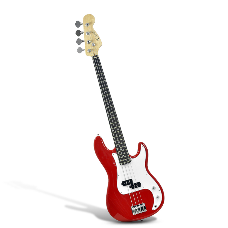 gecko ge 655 pb electric bass guitar single pickup maple neck basswood body red taaj. Black Bedroom Furniture Sets. Home Design Ideas