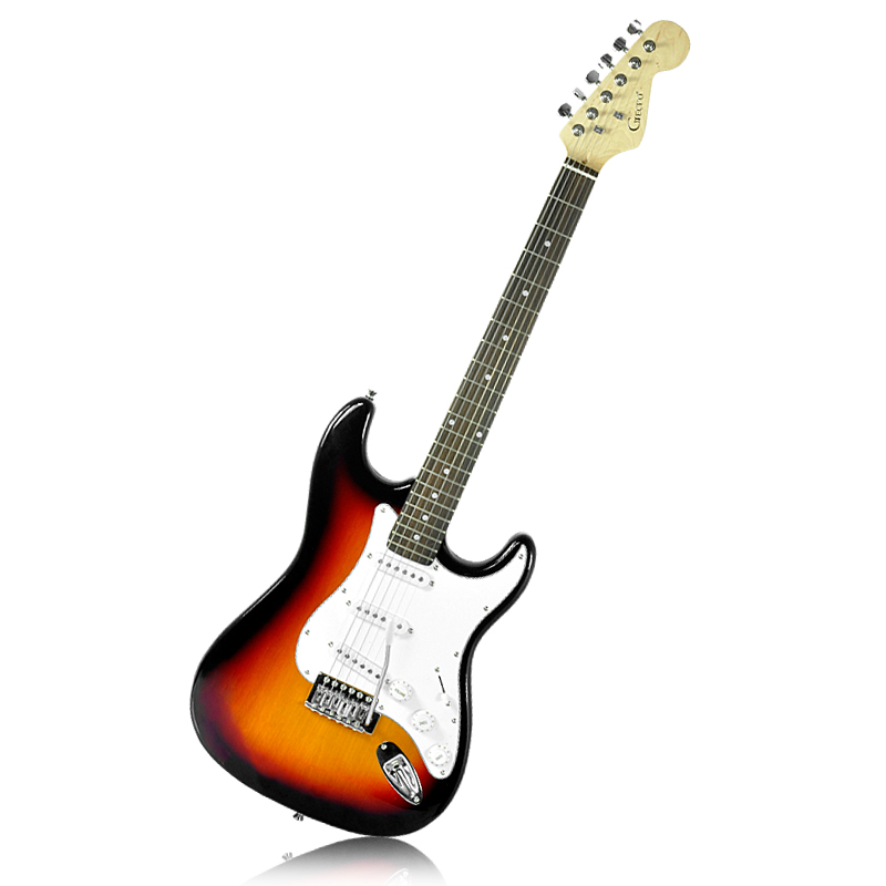 gecko st electric guitar 22 frets 3 single coil pickups whammy bar taaj g540 us. Black Bedroom Furniture Sets. Home Design Ideas