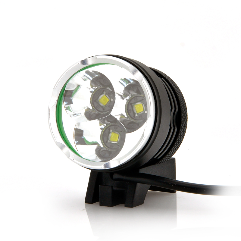 Wholesale Waterproof LED Bicycle Headlight + Headlamp (2200 Lumens, 3 LEDs, Rechargeable)