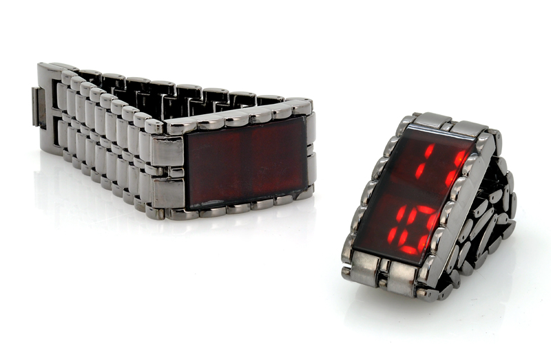 Shinobi - Red LED Watch (Touch Activated, 28 LEDs) [TIZ