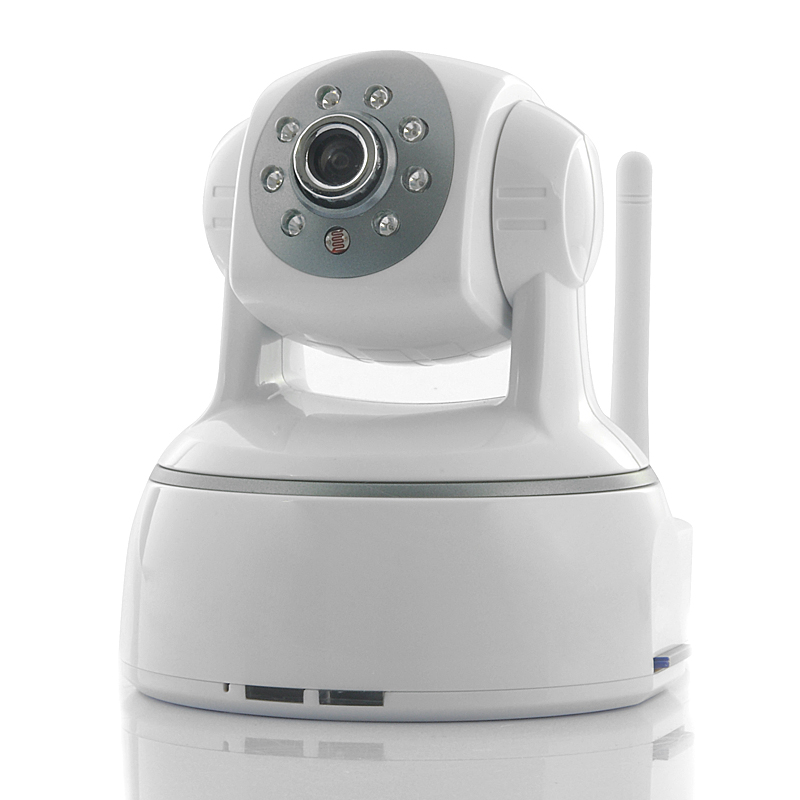 Wholesale Strike - SD Card Recording IP Security Camera (Pan/Tilt, 1280x720, 1/4 Inch CMOS, Two Way Audio)