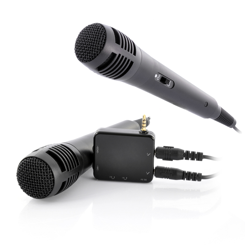 Wholesale Portable Karaoke Player With 2 Microphones And 3.5mm Audio Jack - For Phone, Tablet, TV