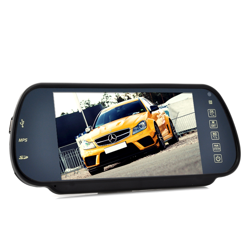Wholesale 7 Inch Handsfree Bluetooth Rear View Mirror Monitor With Multimedia MP4 Player