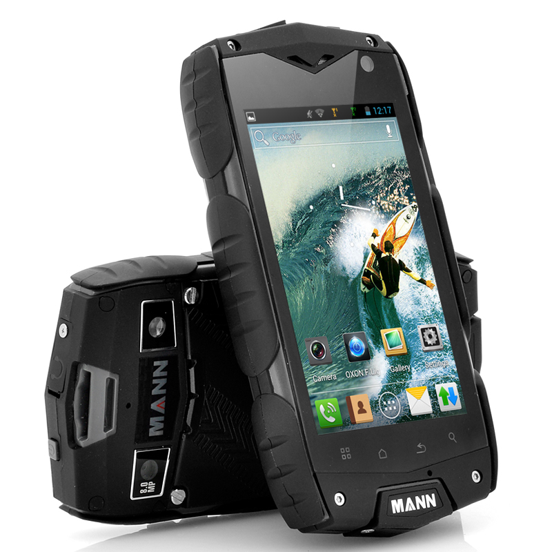 Wholesale Mann A18 - 4 Inch Rugged Android Phone (Snapdragon 1.15GHz Dual Core CPU, IP68 Waterproof, Shockproof, Dustproof, Black)
