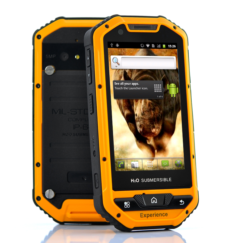 Rhino Mini Military Standard Rugged Android Phone Mil Std 810g 3 5 Inch Screen Ip67 Waterproof Shockproof 5mp Camera Tzc M401 Us 354 40