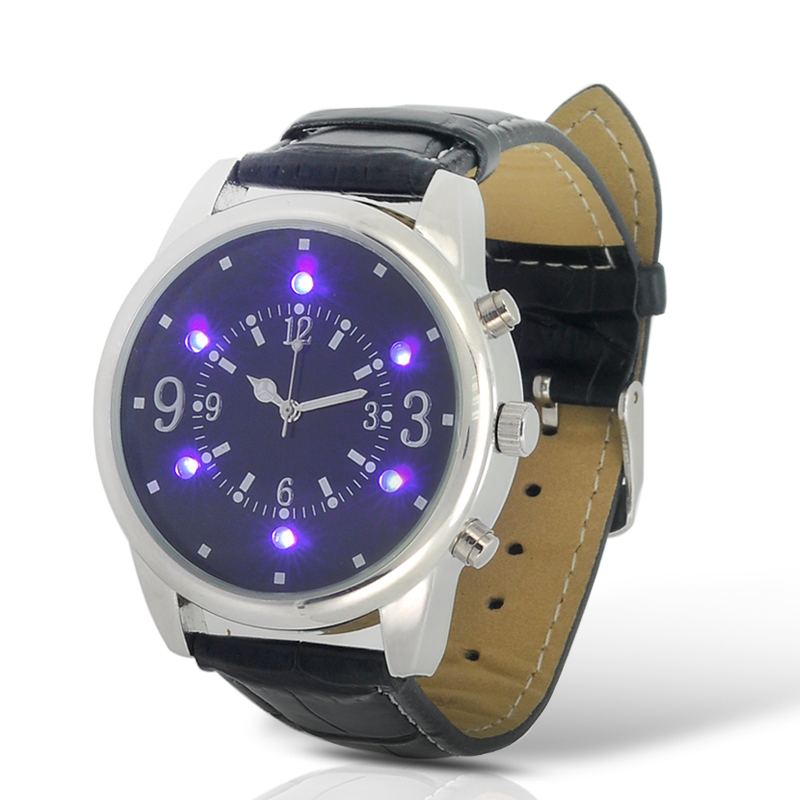 Wholesale Purple LED Analog Watch With Money Inspection Function