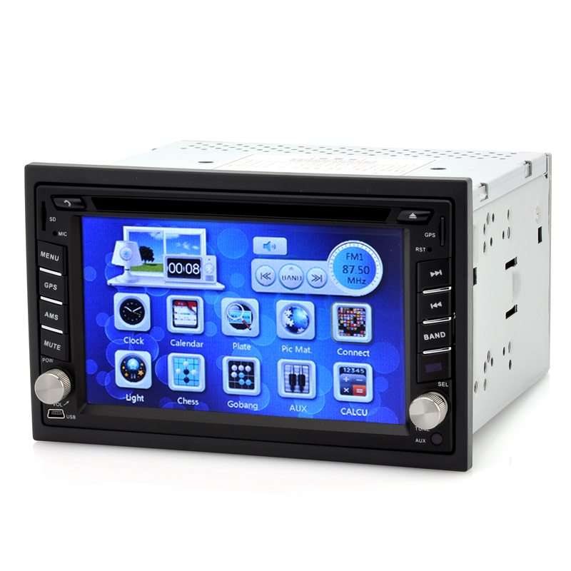 Wholesale Gear - 2 DIN Car DVD Player with 6.2 Inch Touch Screen (GPS, Bluetooth, 4GB Micro SD Card)