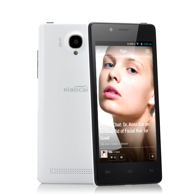 Wholesale XiaoCai X9 - 4.5 Inch QHD Android Phone (OGS, 7.9mm Ultra Thin, 1.2GHz Quad Core, White)