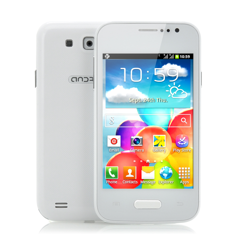 Wholesale Float - Budget Dual SIM Android Phone (4 Inch, Bluetooth, WiFi, White)