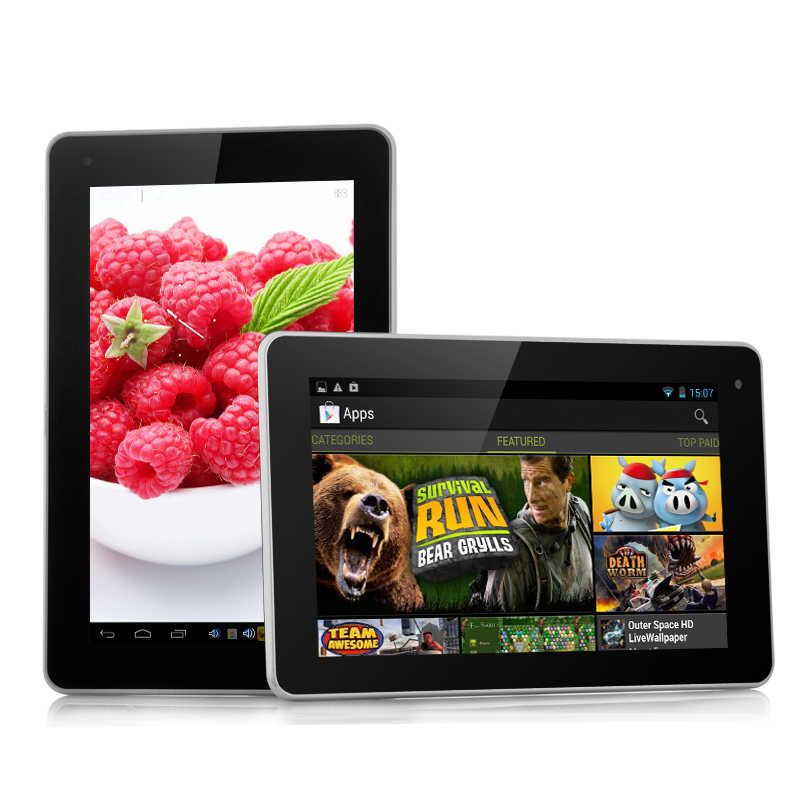 Wholesale Raspberry - Budget 7 Inch Quad Core Android Tablet (1.3GHz CPU, 1GB RAM, 8GB, HDMI)