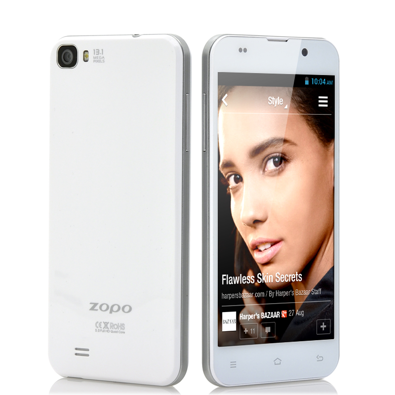 Wholesale ZOPO ZP980 - 5 Inch Quad Core Android Phone (FHD Retina Screen, 1920x1080, 1.5GHz CPU, 2GB RAM, 32GB, White)